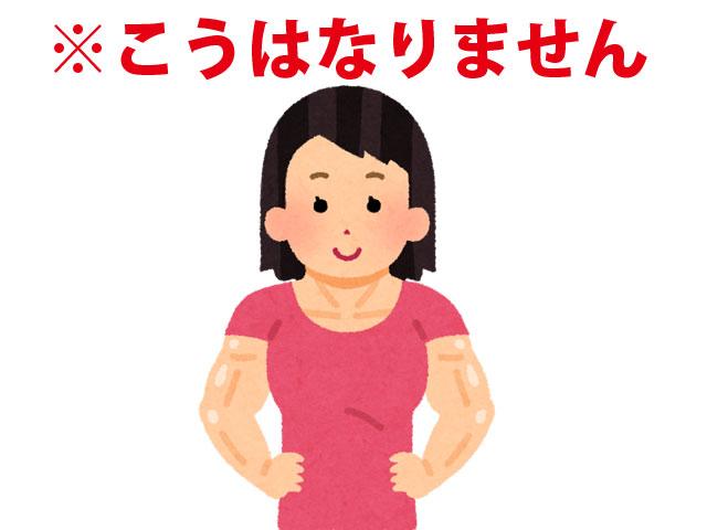女性は筋肉質になりません
