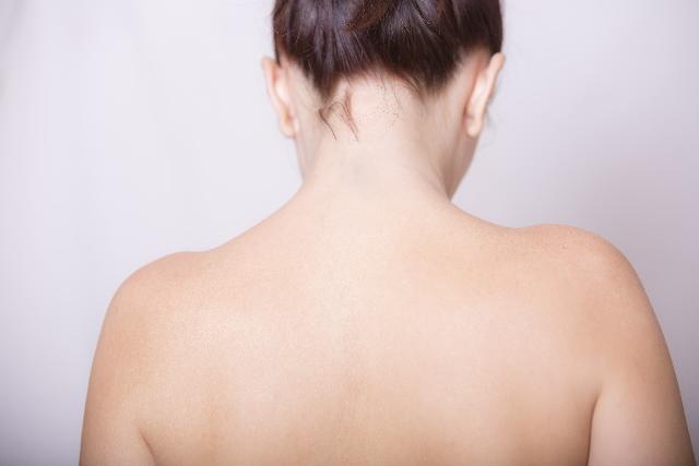 女性の肩幅